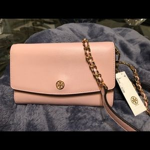 Authentic Tory Burch parker chain wallet